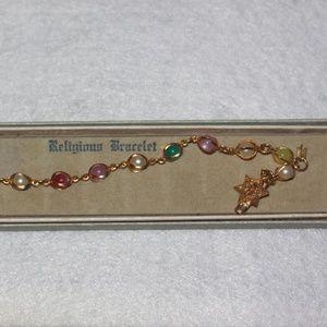 Jewelry - Vintage Religious Bracelet in Original Box